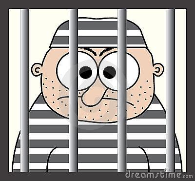 Criminal behind bars clipart.