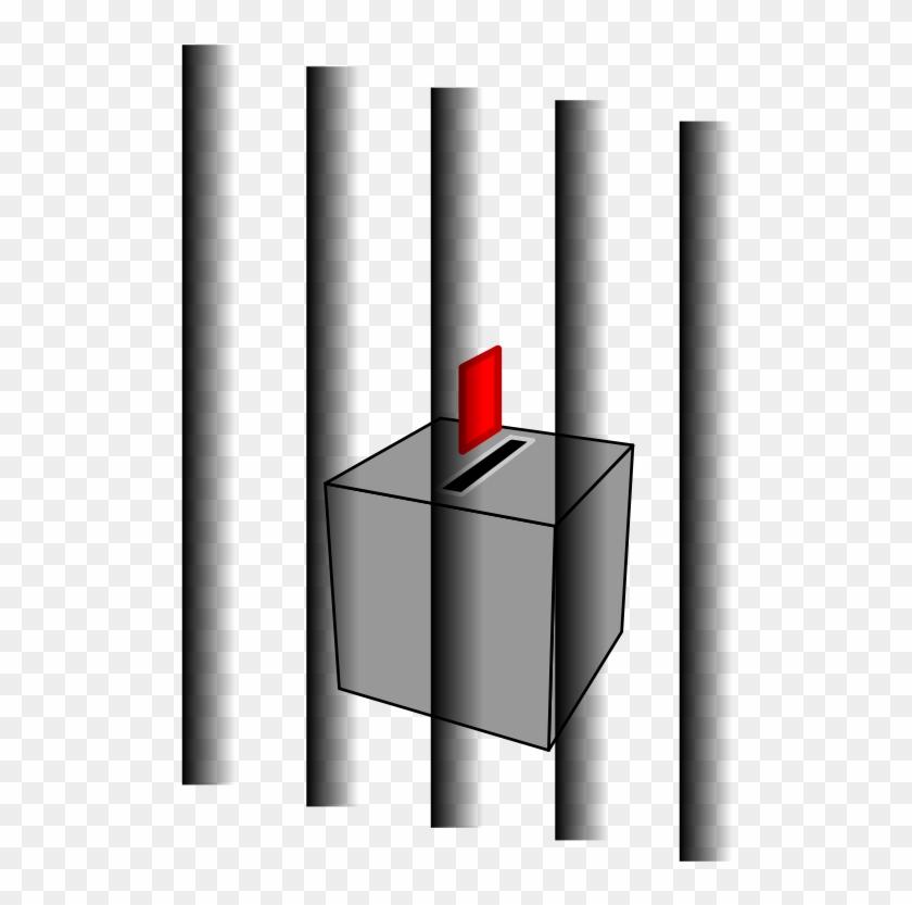 Ballot Box Behind Bars.