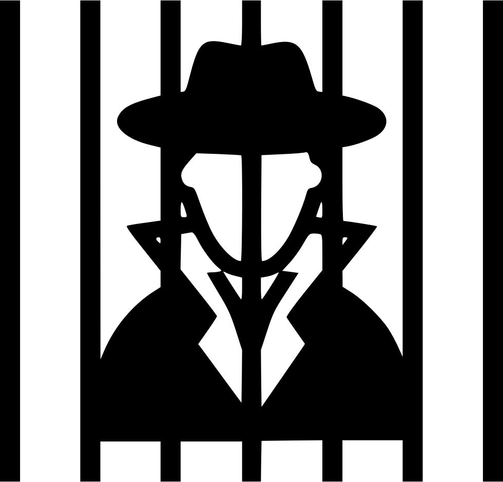 Criminal Behind Bars Svg Png Icon Free Download (#558845.