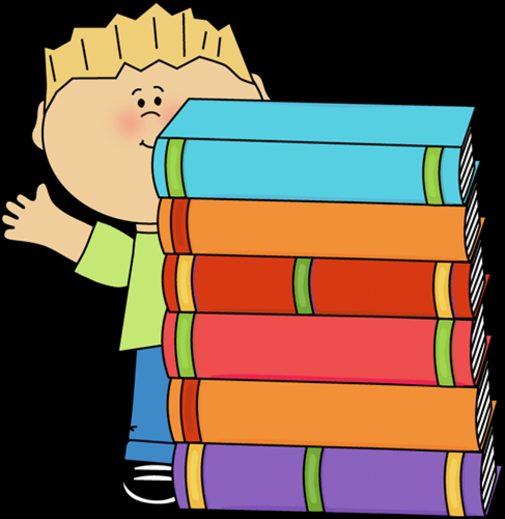 boy waving behind a stack of books clip art boy waving behind a.