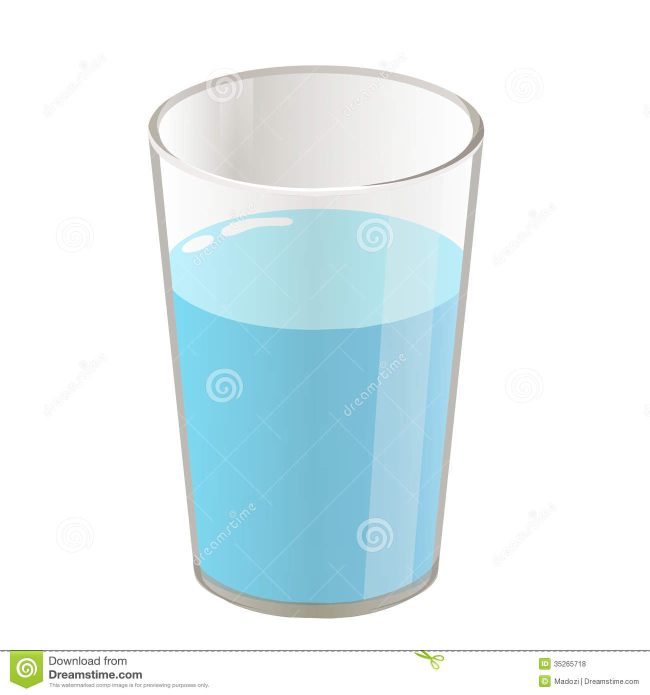 Clipart of glass of water.