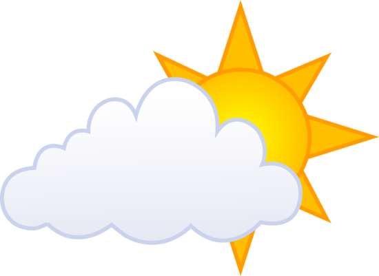 sun with cloud clipart #15