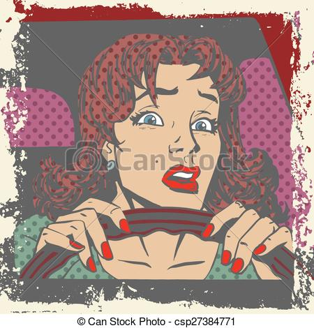 Clipart Vector of Behind the wheel.