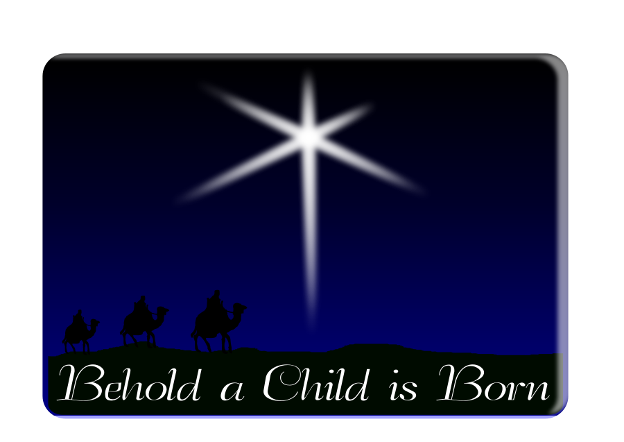 Behold a child is born Clipart, vector clip art online, royalty.