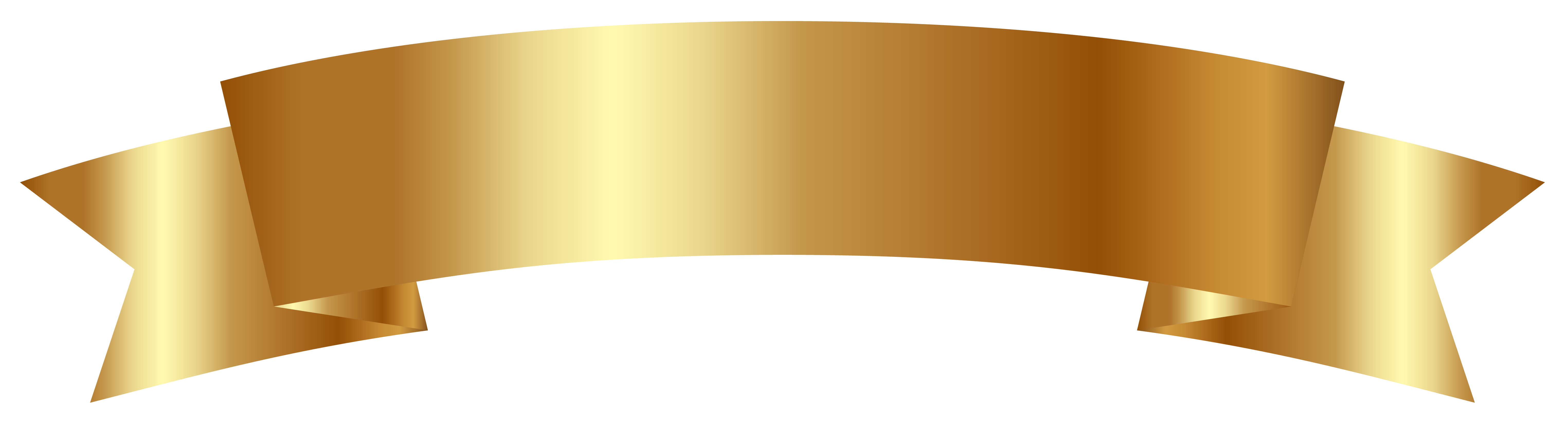 Gold Banner Ribbon Clip art.