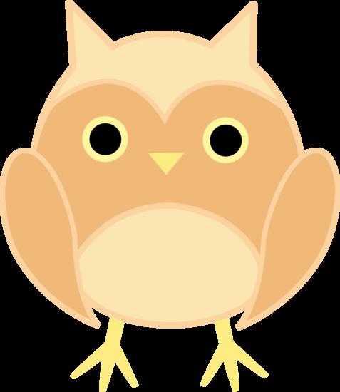 Cute Beige Owl.