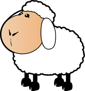 Sheep With A Beige Face Clip Art at Clker.com.
