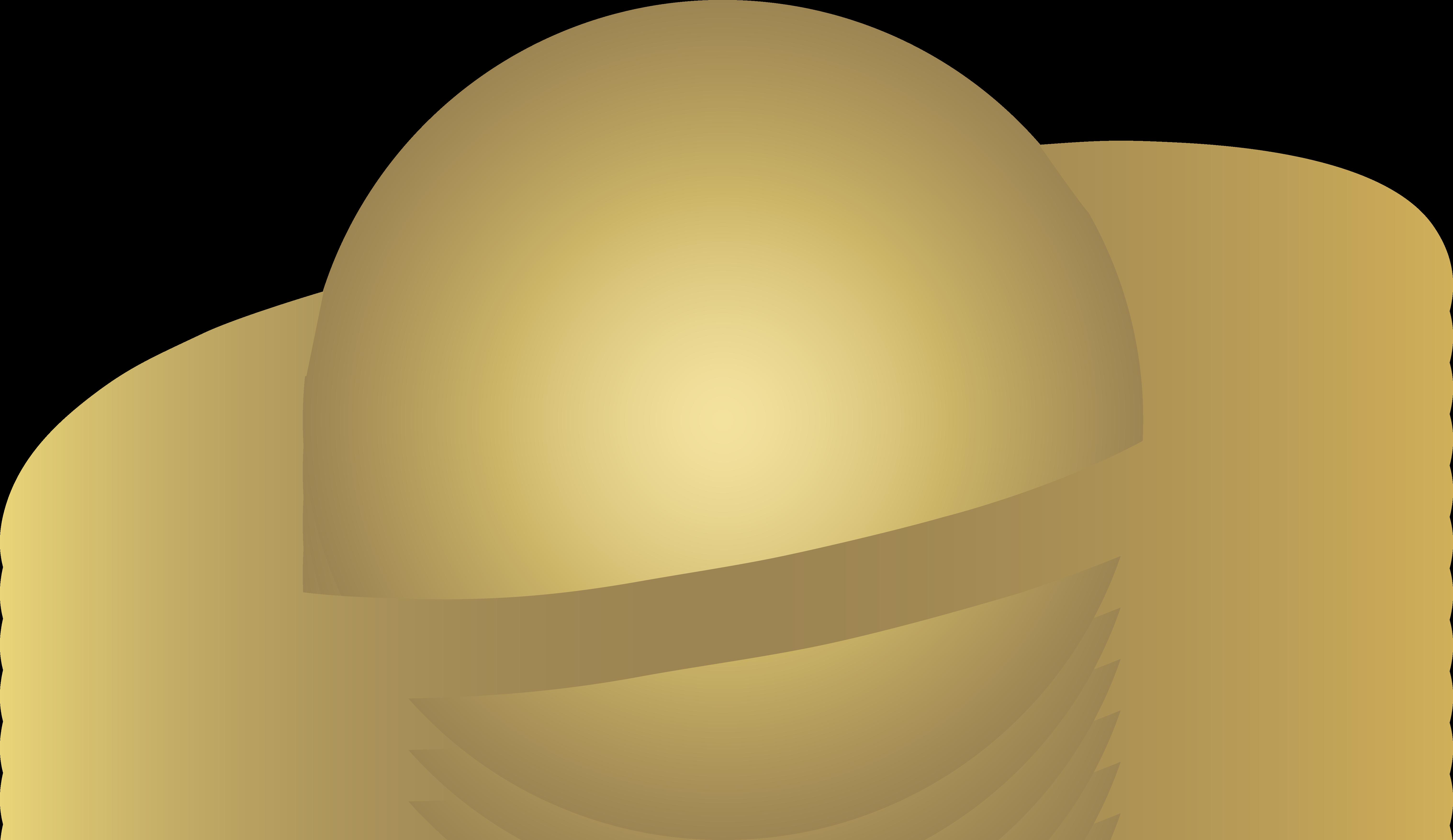 Simple Beige Ringed Alien Planet.