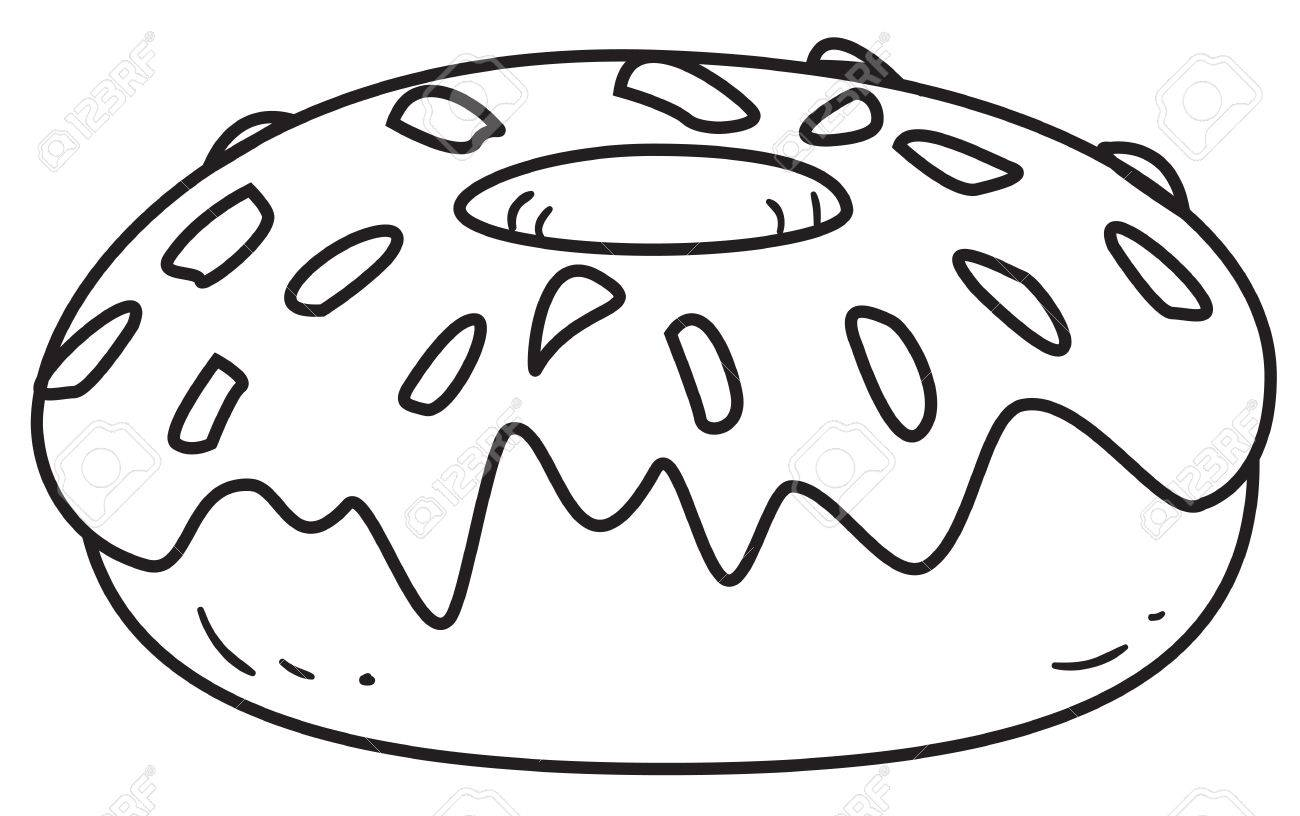Donuts Clipart Black And White.