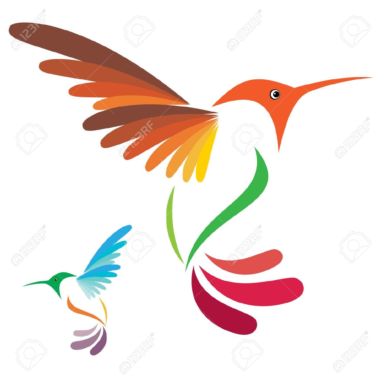 Hummingbird silhouette clipart.