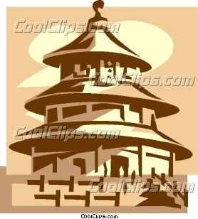 Temple of Heaven, Beijing Clip Art.