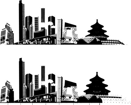 Impression Of Beijing, Clip Art.