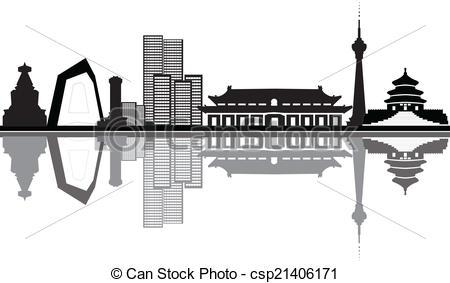Vectors Illustration of beijing skyline.