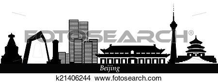 Drawings of beijing china city skyline k21406244.