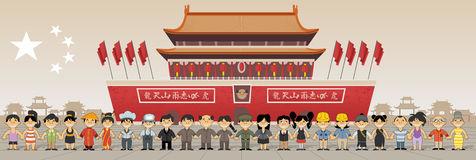 Beijing China Forbidden City Stock Illustrations.