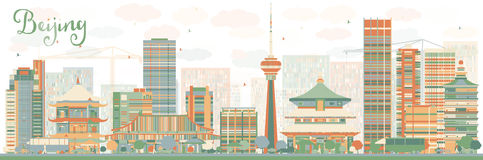Beijing Skyline Stock Illustrations.