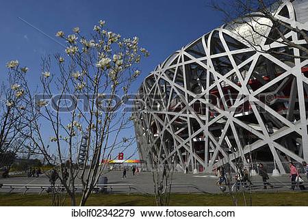 "Stock Photograph of ""Beijing Olympic Stadium, National Stadium."