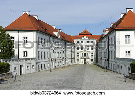 "Stock Photo of ""Schloss Hirschberg Palace, inner courtyard."