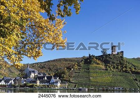 Stock Images of Low angle view of castle on hill, Metternich.