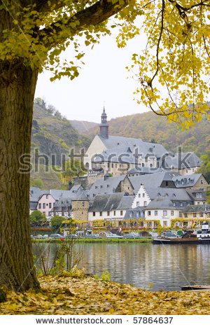 Moselle River Stock Photos, Royalty.