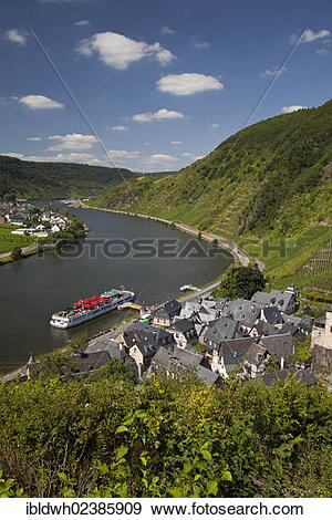 "Stock Photograph of ""View of Beilstein and the Mosellele Valley as."