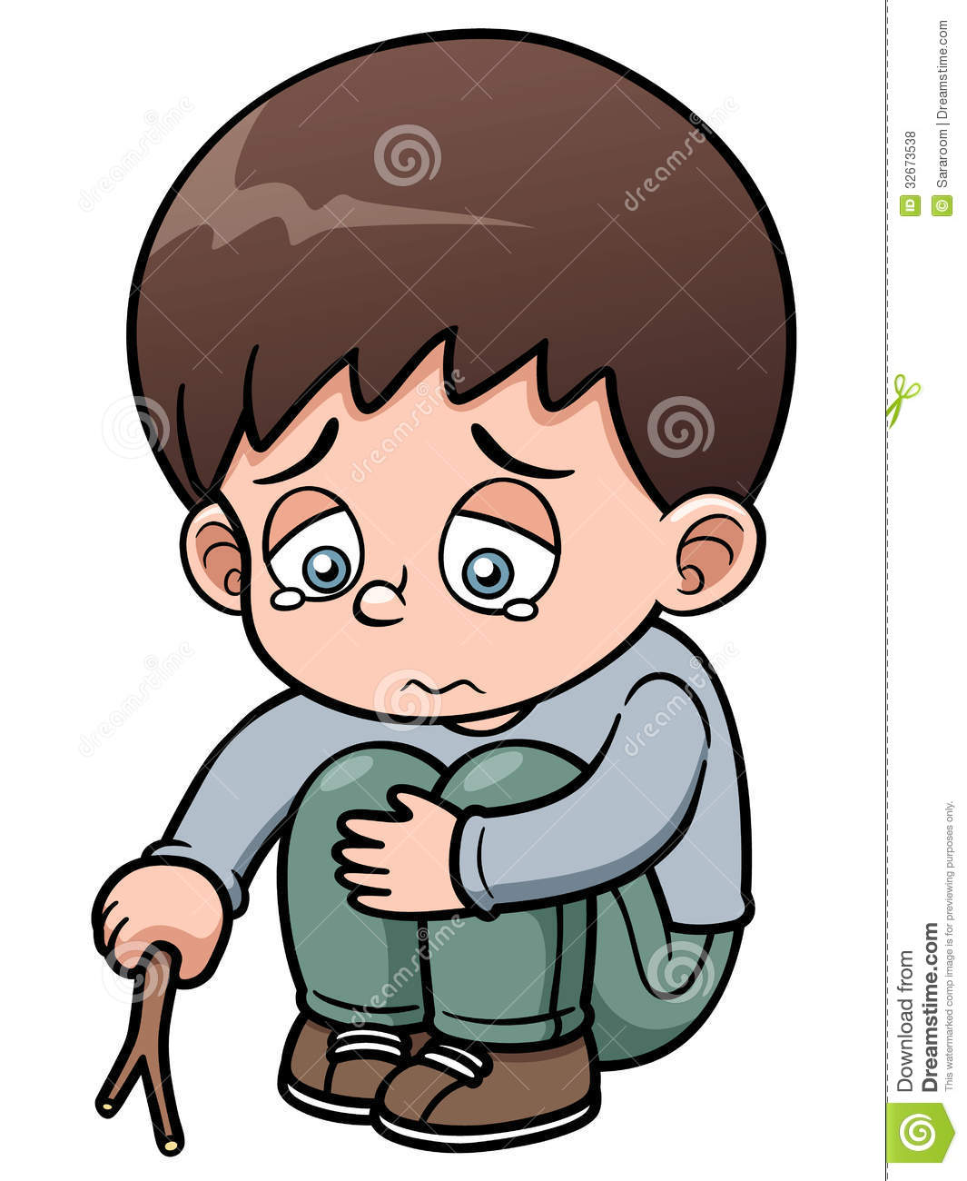 Boy alone clipart.