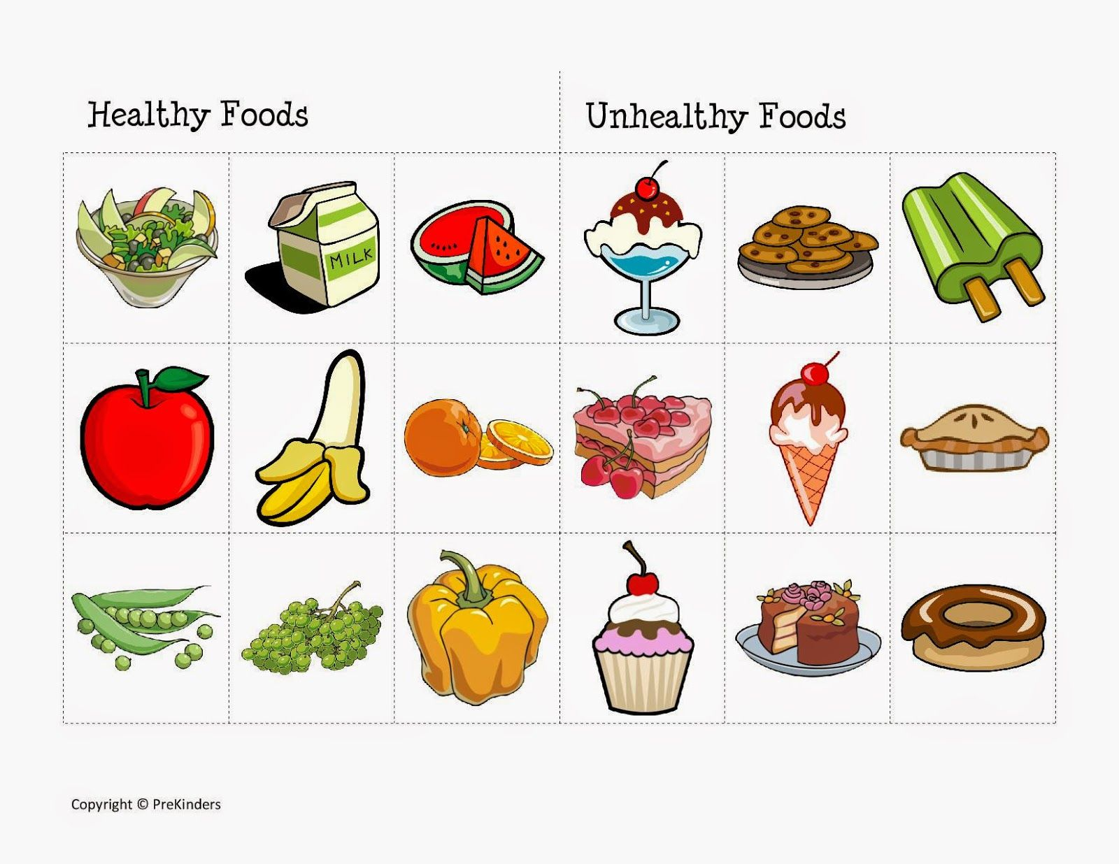 worksheet for being healthy.