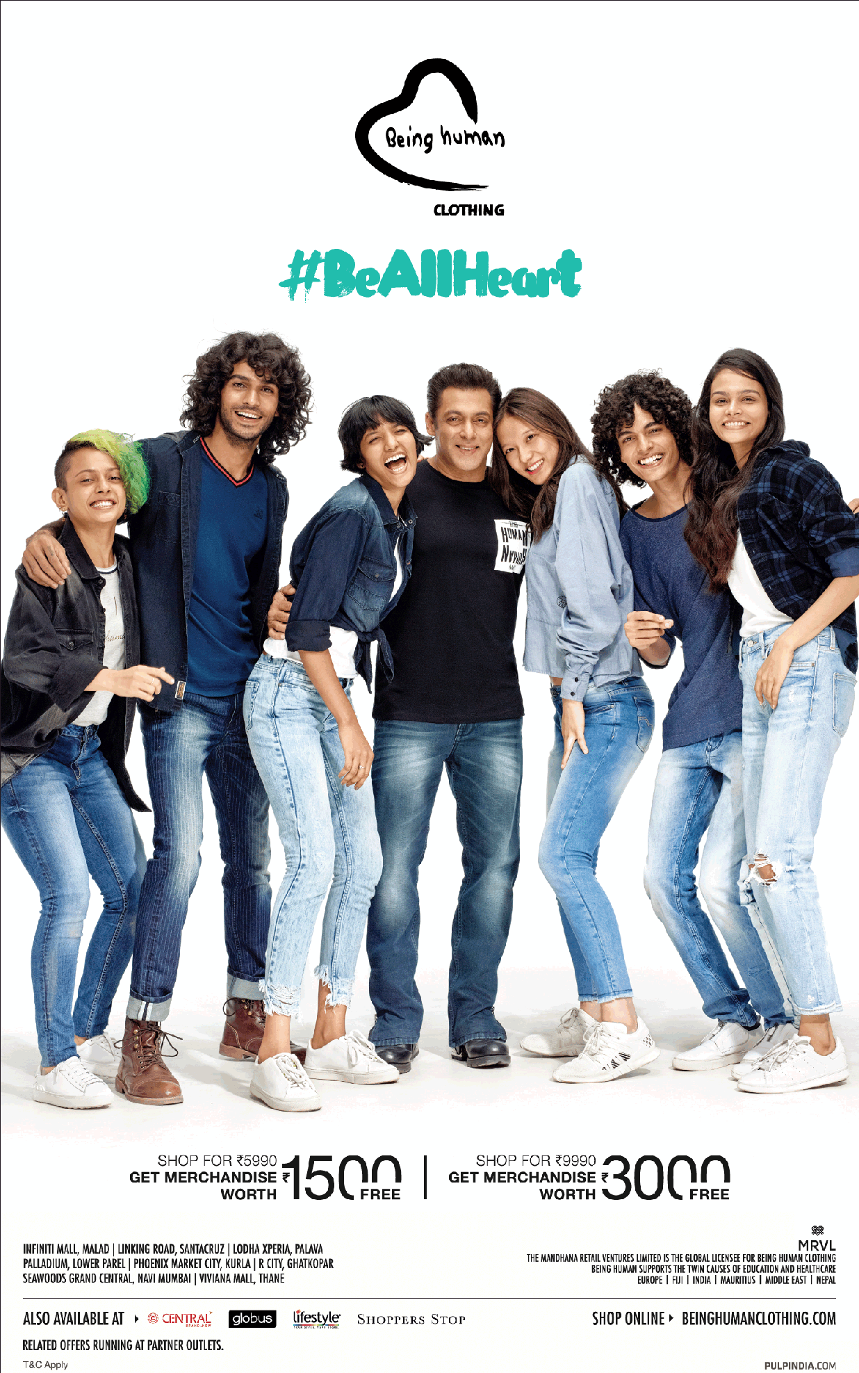 Being Human Clothing Be All Heart featuring Salman Khan Ad.