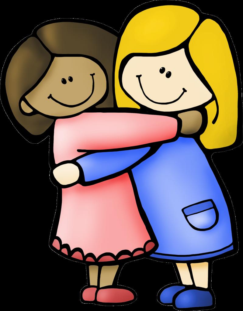 Hugging clipart kind friend, Hugging kind friend Transparent.