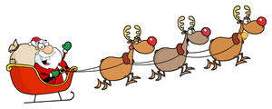 Free Sleigh Clipart Image.