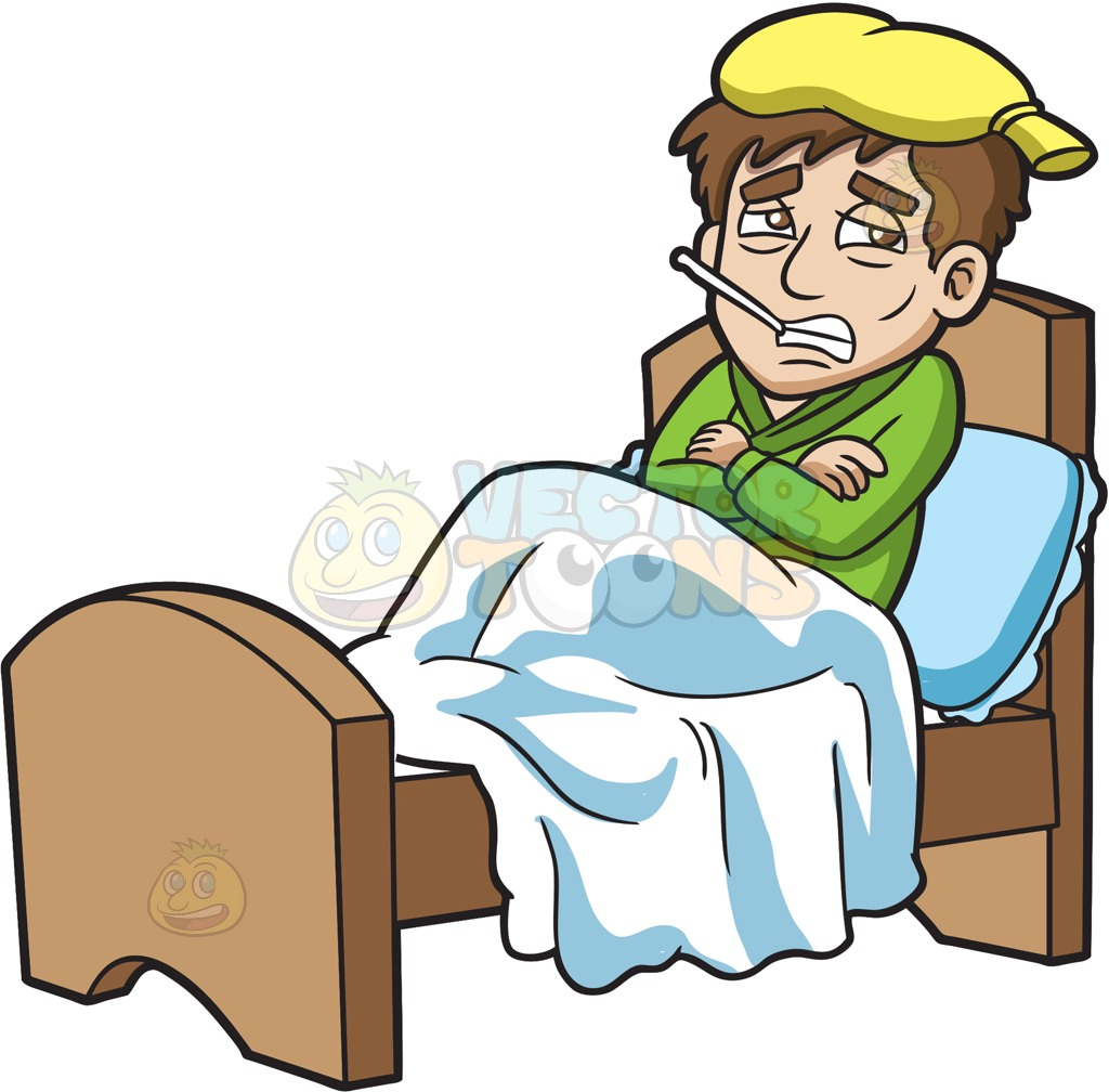 Person Being Sick Clipart.
