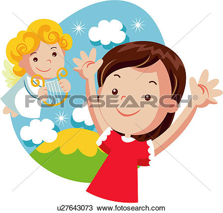 Clipart of human, mankind, human being, figure, angel u27643073.