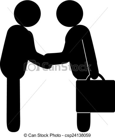Clipart Vector of Business Deal.