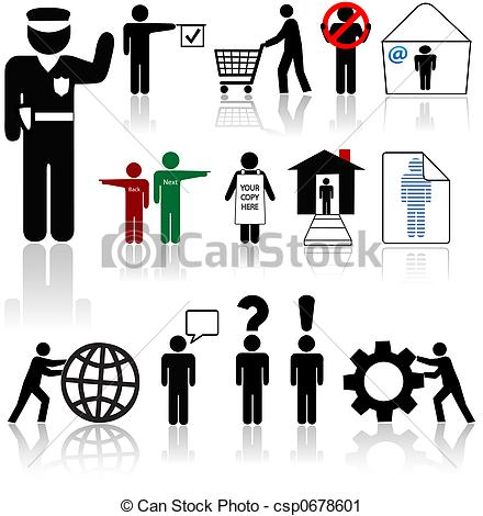 Clipart of People Icons.