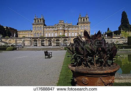 Picture of Blenheim Palace, Woodstock, near Oxford, Oxfordshire.