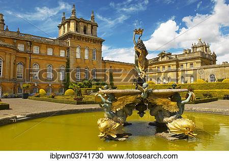 "Stock Photography of ""The Italian Fountain in the Italian Gardens."