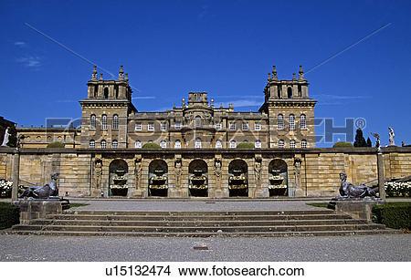 Stock Photo of Blenheim Palace, Woodstock, near Oxford.