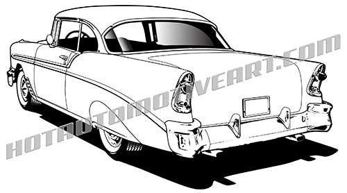 56 chevy bel air vector clipart, buy two images, get one image free.