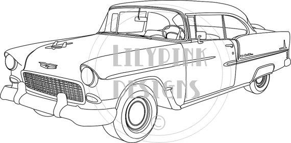 1955 chevy bel air logo clipart.