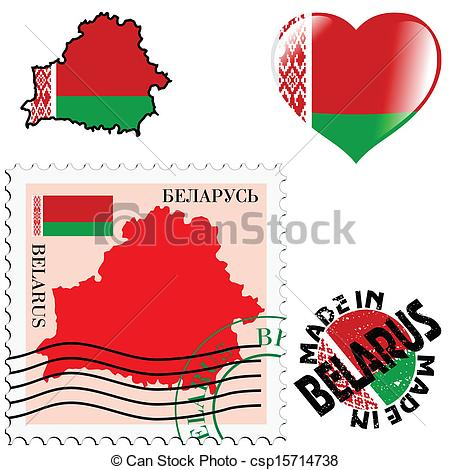 Vectors of national colours of Belarus.