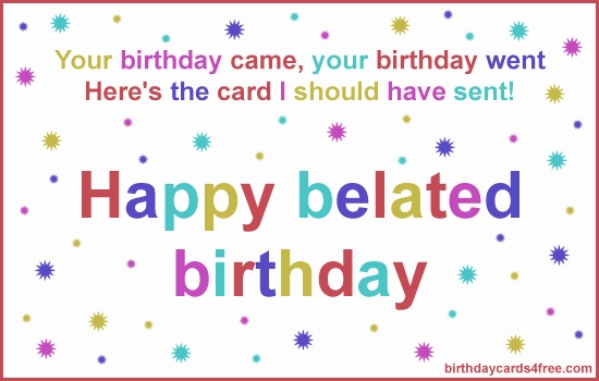 Belated Birthday Clipart Free Cards Awesome Funny Quoet Clip Art.