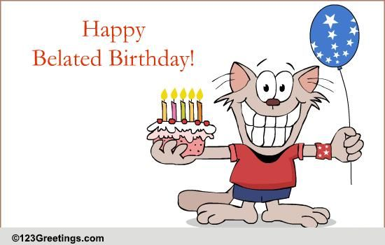 Belated birthday clipart 5 » Clipart Station.