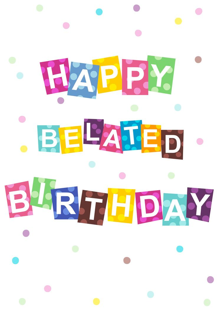 Belated Birthday Clipart & Look At Clip Art Images.