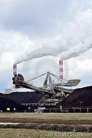 Machine In Belchatow Coal Mine, Poland Royalty Free Stock.