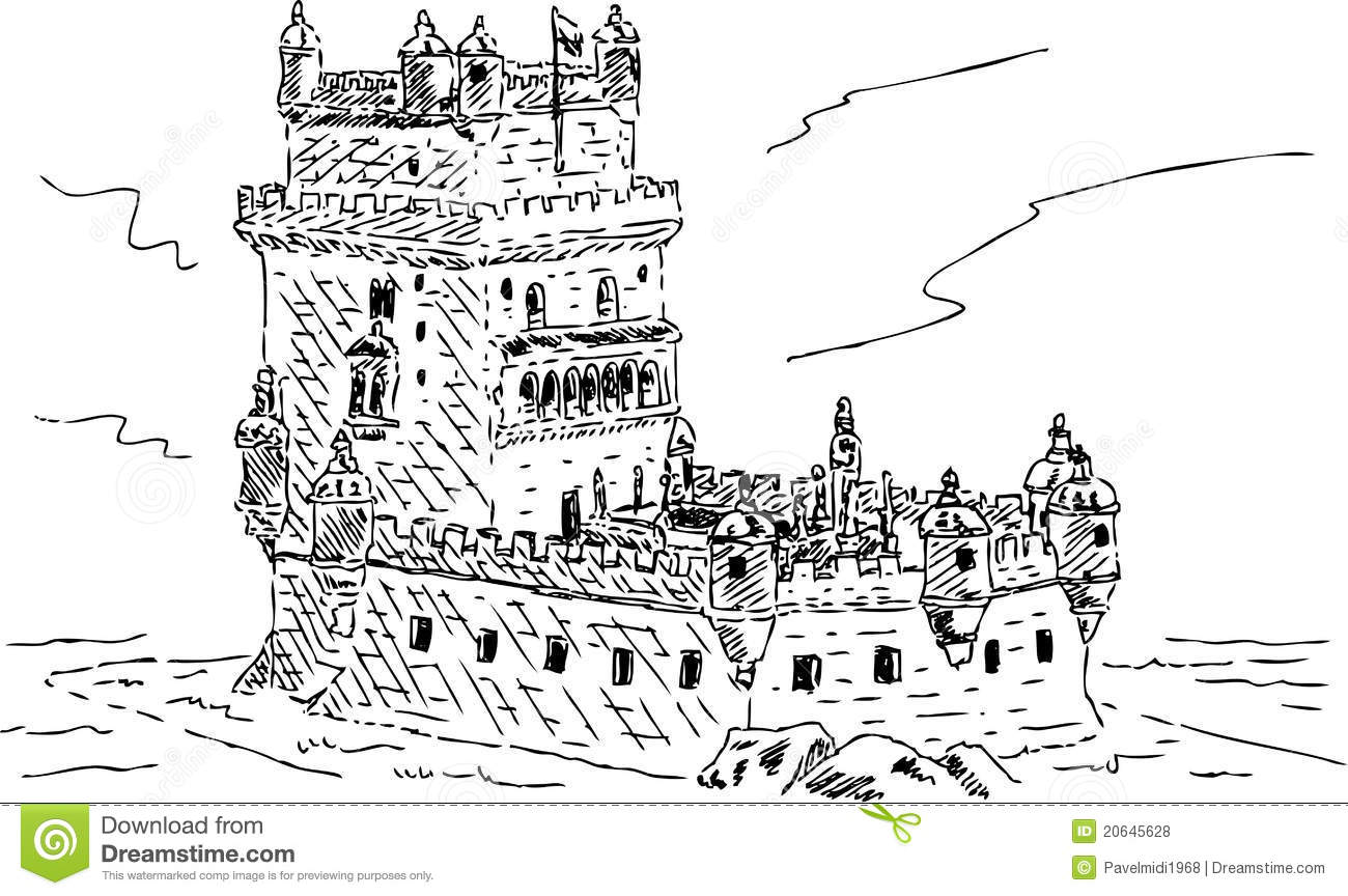 Tower Of Belem In Portuguese Torre De Belem Royalty Free Stock.