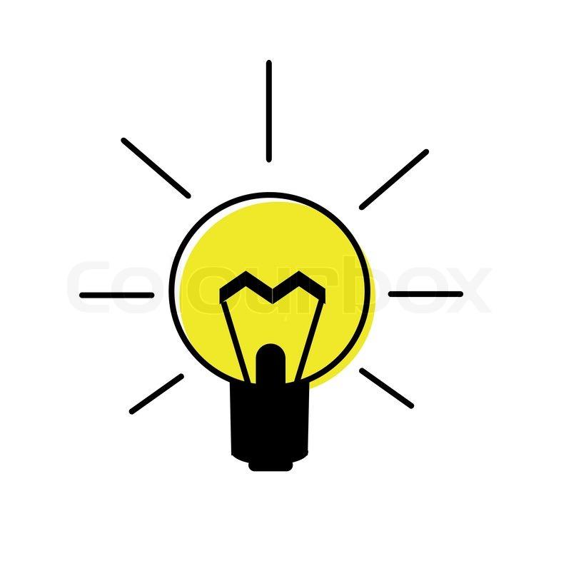 Clipart, lampe, vektor.