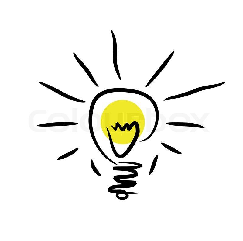 Clipart, ideen, lampe.