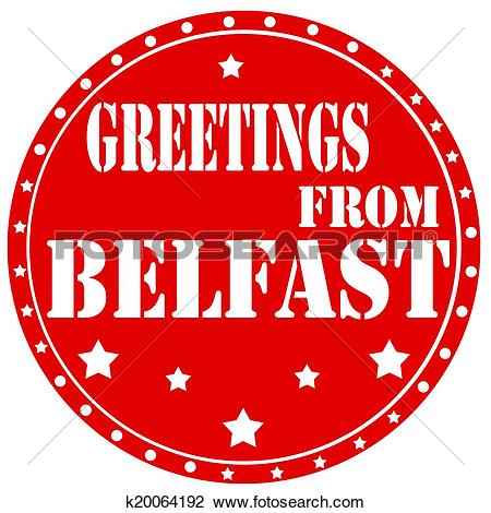 Clipart of Greetings From Belfast k20064192.