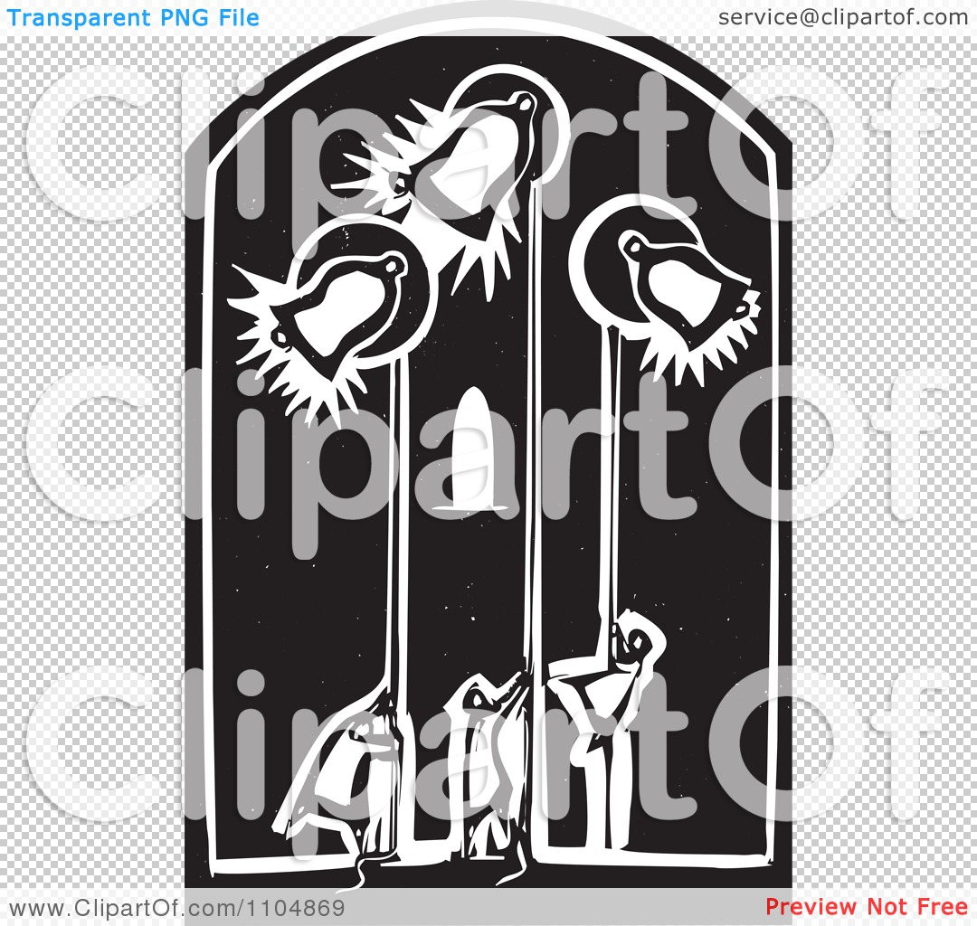 Clipart People Ringing Church Bells In A Belfry Black And White.