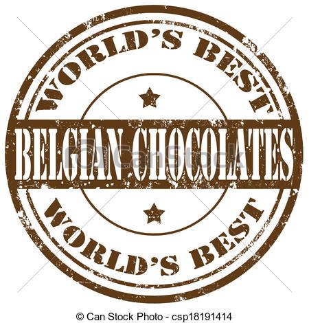Vector Clip Art of Belgian Chocolates.